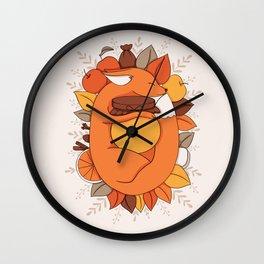 Fox Apple Sauce Wall Clock