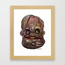 Heads of the Living Dead Zombies: Toady Zombie Framed Art Print