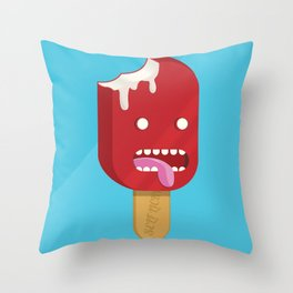Self Licking Ice Cream Throw Pillow
