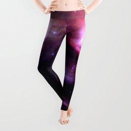 Galaxy : Pleiades Star Cluster nebUlA Purple Pink Leggings
