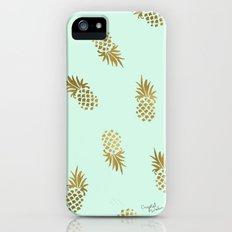 Pineapple Mint iPhone SE Slim Case