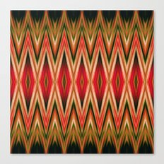 Orange Green Red Zigzag Abstract Pattern Canvas Print