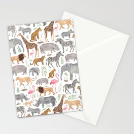 Safari Animals Stationery Cards