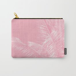 Millennial Pink illumination of Heart White Tropical Palm Hawaii Carry-All Pouch