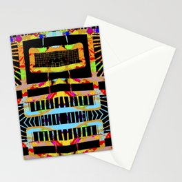 splatter paint design, modern abstract ladders Stationery Cards