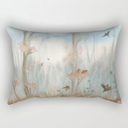 Trees by the Beaver Dam Rectangular Pillow