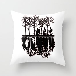Stuck in the upside down, Strange eleven thing gift Throw Pillow