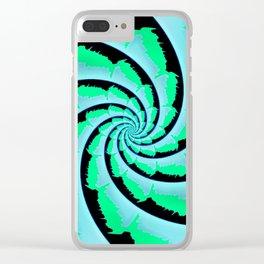Fractal Tie-Dye Clear iPhone Case