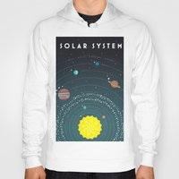 solar system Hoodies featuring Solar System by scarriebarrie