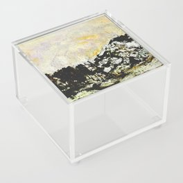 Golden mountains Acrylic Box