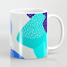 Blue abstract pattern Coffee Mug