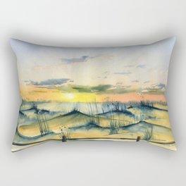 Sunset Over The Dunes Rectangular Pillow