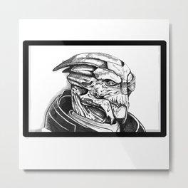 Garrus Vakarian: Mass Effect Metal Print