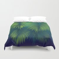 palm trees Duvet Covers featuring Palm Trees by Elyse Beisser