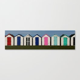 Holiday Beach Huts Canvas Print