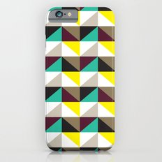 Yellow, purple, turquoise triangle pattern Slim Case iPhone 6s