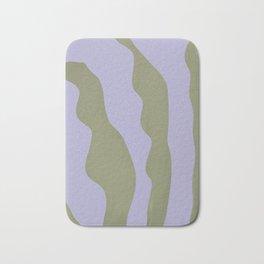 Abstract plant home decor art, minimal, unique  Bath Mat
