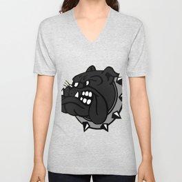 Black Bulldog Unisex V-Neck