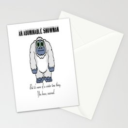 Abominable Snowman Stationery Cards