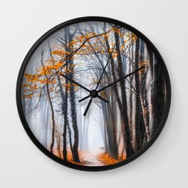 To Travel The Path Unknown Wall Clock