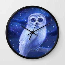 Winter owl Wall Clock