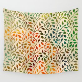 Pattern of Small Autumn Leaves Wall Tapestry