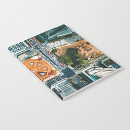 Aerial Cityscape View (Color) Notebook