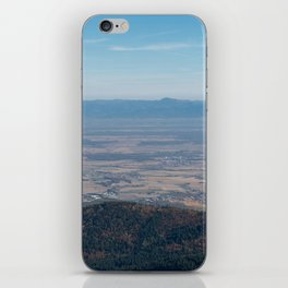View at the mountains iPhone Skin