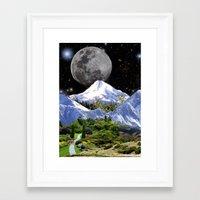 walk the moon Framed Art Prints featuring Walk by Picklebackwilson