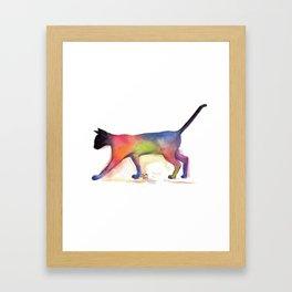 Cat Kitten Print ' PUSS PUSS ' by Shirley MacArthur Framed Art Print