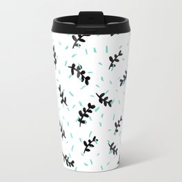 twigs & dots turquoise Travel Mug