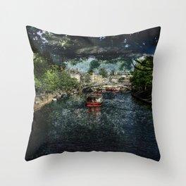 Spring - River Ouse, York Throw Pillow