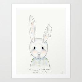 penny rabbit Art Print