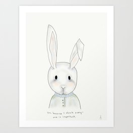 penny rabbit Art Print