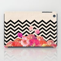 road iPad Cases featuring Chevron Flora II by Bianca Green