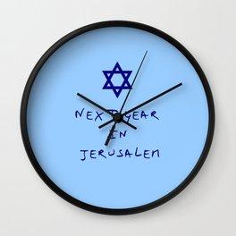 Next year in Jerusalem 8 Wall Clock