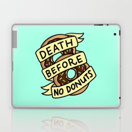 Death Before No Donuts Laptop & iPad Skin