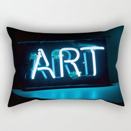 Art Neon Rectangular Pillow