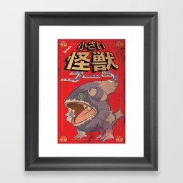 Little Kaiju Cola Framed Art Print