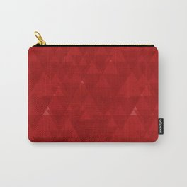 Delicate maroon triangles in the intersection and overlay. Carry-All Pouch