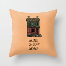 Home Sweet Home Quotes Throw Pillow