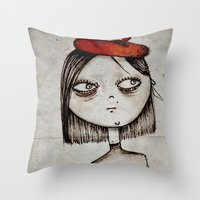 french fries Throw Pillows featuring French Fries by Zara Kunst