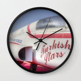 Northrop F5 Turkish stars Wall Clock