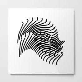 Zebra Sonnet Metal Print