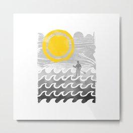 Standup Paddle Metal Print