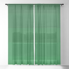 Rich Forest Evergreen Stripes Ombre Sheer Curtain