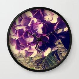 Purple Index Wall Clock