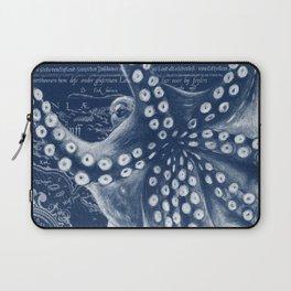 Octopus Vintage Map Blue Nautical Art Laptop Sleeve
