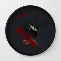 spawn Wall Clocks featuring The Godslayer by Arian Noveir