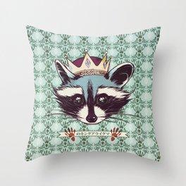 King Racoon · Ver.2 Throw Pillow